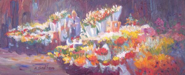Sea of Flowers, 5 X 12 (Oil) - Sold