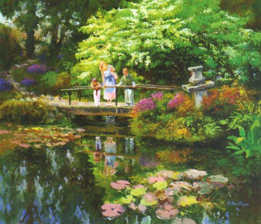 The Japanese Garden, 24 X 30 (Oil) - Sold