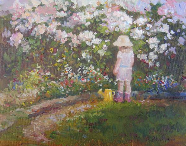 Rambling Roses, 8 X 10 (Oil) - Sold