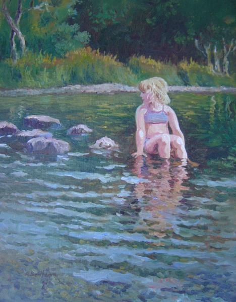 The Little Mermaid of Glendalough, 18 X 14 (Oil)