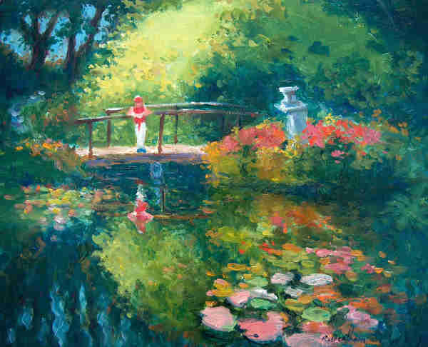 Japanese Gardens, Powerscourt Estate, 10 X 12 (Oil)