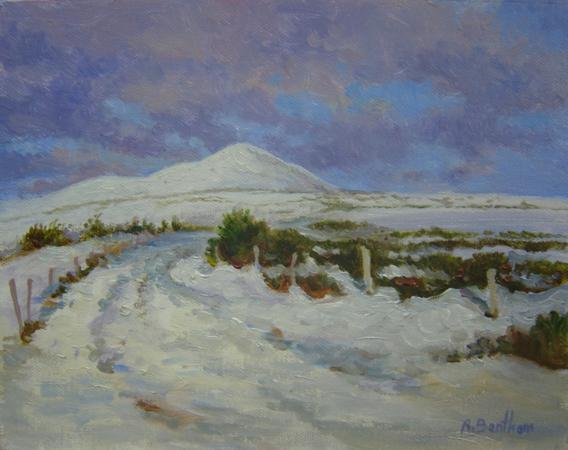 Snow on the Wicklow Mountains, 8 X 10 (Oil) - Sold