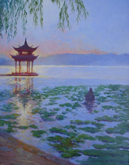 West Lake, Hangzhou, China, 18 X 14 (Oil) - Sold