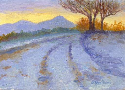 Winter View, Sugarloaf Mountain, 5 X 7 (Oil)