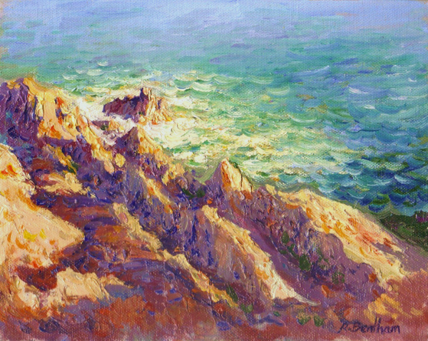 Golden Light, The Cove, 8 X 10 (Oil) - Sold