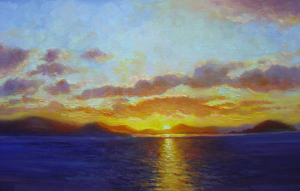 Sunrise, Co. Kerry, 12 X 16 (Oil) - Sold
