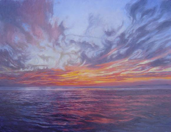 Sunset, Portugal, 14 X 18 (Oil) - Sold