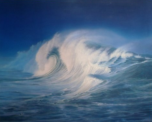 The Breaking Wave, 18 X 24 (Acrylic) - Sold