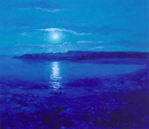 The Blue Moon, 12 X 12 (Oil) - Sold