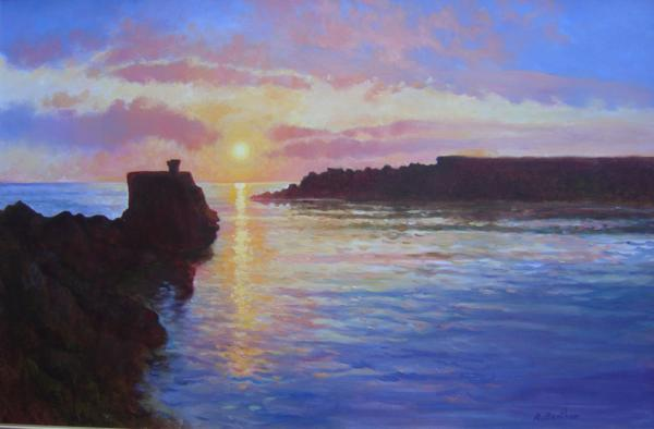 Sunrise, The Harbour, 24 X 36 (Oil) - Sold